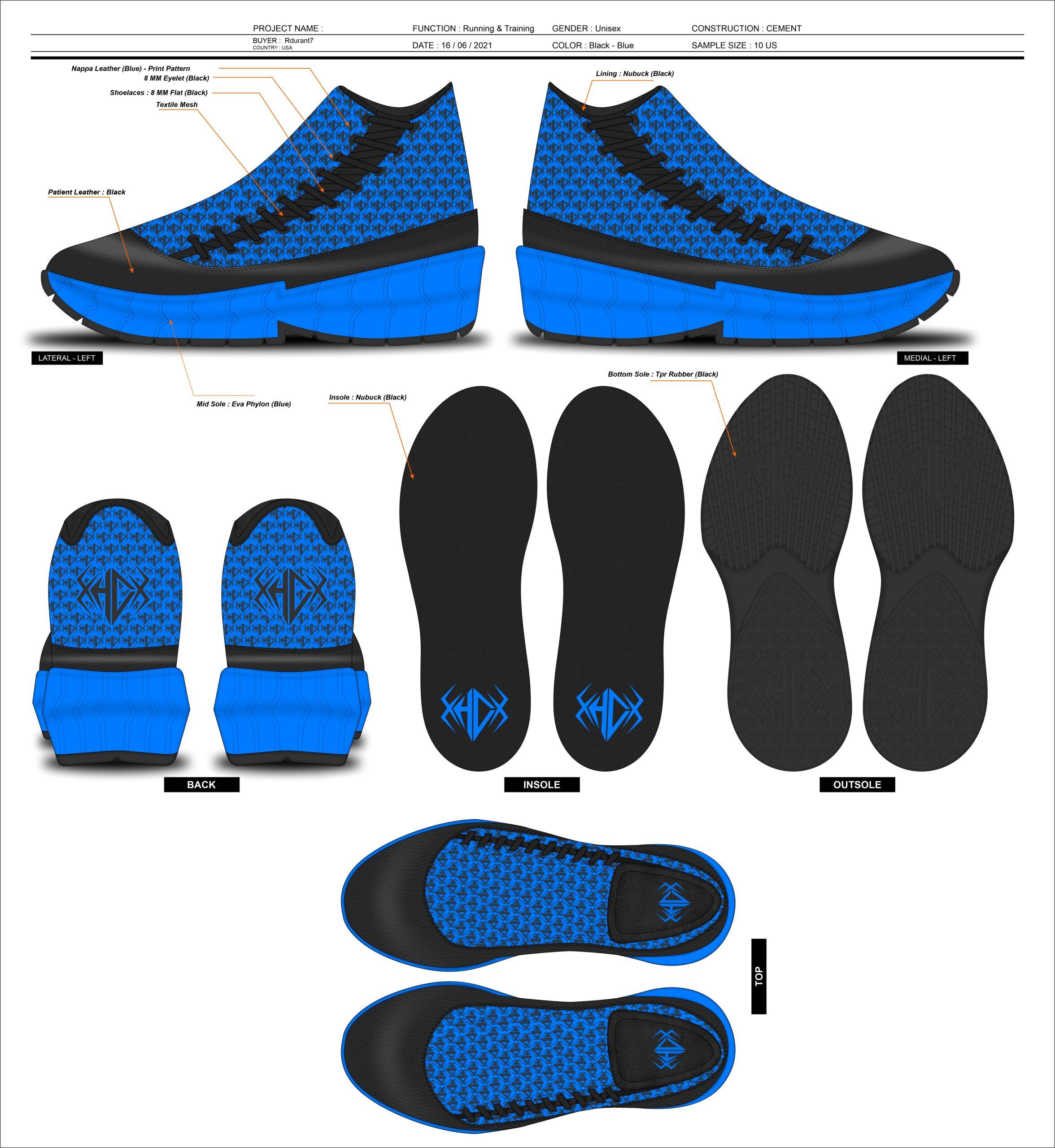 The HypeCrew Platinum 1000 Sneaker